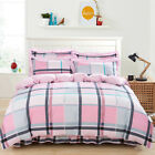 Striped Quilt/Duvet Cover Set 100%Cotton Double Queen King Size Bed Doona Covers