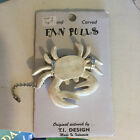 New White Crab Wooden Ceiling Fan Pull Chain