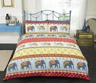 Red Indian Style Elephant Duvet Cover & Pillowcase Bedding Bed Sets 3 Sizes