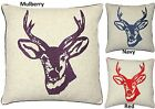 Stag's Head Square Scatter Cushion Cover Catherine Lansfield Deer 43x43 cm