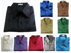 Mens Jacquard Thai Silk Shirts Luxury Casual Short Sleeve Button Down Vintage