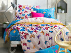 Butterfly Doona Covers 100% Cotton Double/Queen Bed Size Quilt/Duvet Cover Set