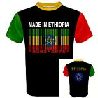 MADE IN ETHIOPIA Ethiopian Africa Coat of arm Barcode Flag Sports T-SHIRT FZ8