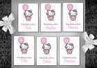 Girls's Hello Kitty thank you cards x 10 (9A - 5F) Ages 1 - 6