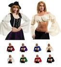 RENAISSANCE COSTUME  DRESS-UP PIRATE WENCH BELLY DANCE ATS TRIBAL CHOLI CROP TOP