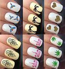 NAIL ART STICKERS WATER TRANSFER DECALS WRAPS HEARTS TREES BOW TIE DREAM CATCHER