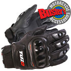 New Tuzo Freeway Summer Black Leather Motorcycle Short Gloves