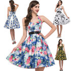 CLEARANCE! 50's 60's Vintage Halter Swing Pinup Evening Party TEA Dress S M L XL