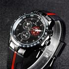 Men's Black Silicone Fashion Sports Militray Watches V6 Quartz Analog Watch T1Z1