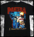 New: PANTERA - 5 Minutes Alone (Black) Metal Concert T-Shirt