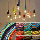 1m Vintage Colored Twist Braided Fabric Flex Cable Wire 3Cord Electric DIY Light