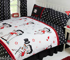 BETTY BOOP SUPER STAR MUSIC SINGING POLKA DOTS LIP RED BLACK BEDDING OR CURTAINS £15.99 GBP on eBay