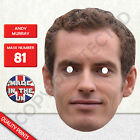 Andy Murray Tennis Player Celebrity Card Mask - Fast Dispatch