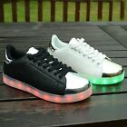 NEW GIRLS WOMENS USB LED LIGHT UP LACE UP PUMPS SNEAKERS TRAINERS SHOES SIZE