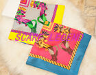 TWIN HOLY HORSES SILK SCARF SQUARE SHAWL 140X140 SUPERBIG 2COLOR 100% SILK TWILL
