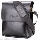 Polo Shoulder Bag Men Leather Messenger Crossbody Fashion Business Briefcase