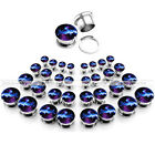 Universe Starry Sky Expanders Flesh Tunnels Plugs Stainless Steel Ear Stretchers