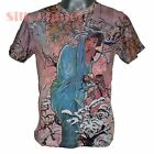 ALPHONSE MUCHA Winter Seasons Snow NOUVEAU FINE ART PRINT MENS T SHIRT UNISEX *