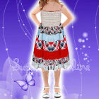 Girls Dress Pretty Summer Holiday Dress Last One Size 3-4 Y * Price Reduced *