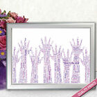 HANDS WORD ART THANK YOU PERSONALISED SCHOOL TEACHER POSTER PRINT SIZE