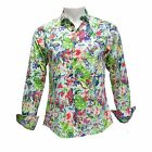 TR Premium Men's Slim Fit Button Down Long Sleeve Floral Design Shirt 703 Multi