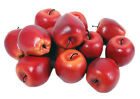 6/12 Pcs Artificial Fake Red Apples Fruit Kitchen office home Dining Room decor
