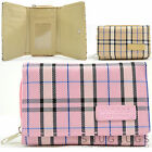 Ladies / Womens / Girls Checked / Tartan Style Bi-Fold Purse