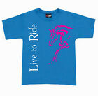 ***HEELS DOWN CLOTHING***KIDS LIVE TO RIDE T  ..YOU CHOOSE COLOUR..ALL SIZES