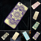 7 Colors Frosted Surface Mandala Flower Mobile Phone Case For iPhone 6 6S 6 plus