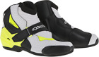 Mens Alpinestars SMX1R Yellow White Black Textile Motorcycle Riding Racing Boots