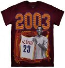 Lebron James THC 2003 King Draft DayTee Burgendy Basketball Cavaliers Tee Shirt