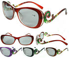 Women's Reading SunGlasses Swirl Floral Design Frame New in 4 Colors