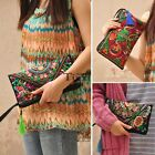 Women's Ethnic Embroider Purse Long Wallet Clutch Coin Card Holder Phone Bag TXC