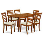 Bronze/Chestnut Finish 7-Piece Dining Table and Chair Set