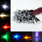 50X 20cm Pre wired LED 5mm White Warm Red Green Blue Yellow UV Light 5V 12V 24V