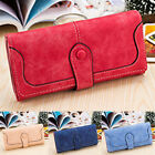 Women Long PU Leather Card Holder Wallet Clutch Checkbook Handbag Purse New