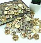 Pro 2 Holes Mixed clock pattern Wooden Buttons Fit Sewing and Scrapbook 20mm