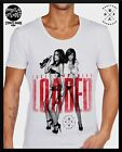 MENS MID-DEEP SCOOP NECK FASHION T SHIRT Tattoo swag RETRO Loaded sexy club top
