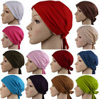 Stretchy Muslim Hats Hijab Underscarf Caps Islamic Turban Headwrap Bonnet Women
