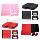 New Leather Game Controller Skin Sticker Cover Decal Set For PS4 Playstation 4