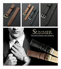 2 Colors Unisex Real Leather Buckle Wrist Watch Band Strap 16mm-22mm