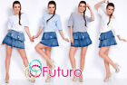 Womens Tiered Mini Dress Batwing Skirt And Top Look Smart Tunic Size 8-12 FT2788