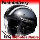 SHOEI J.O Hawker TC5 Black Silver CLASSIC STYLE INTEGRATED VISOR OPENFACE HELMET