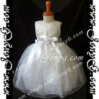 #SPW7 Baby Girls Baptism Christening Birthday Party Sparkle Summer Sun Dress