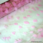 Cellophane Wrap *Baby Prints - Pink* 5 / 10 / 20 mtrs *Rolled for Posting*