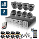 8CH 1080N AHD DVR Video 1500TVL 720P Outdoor CCTV Camera Security System 1TB Kit