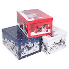 Christmas 3 Underbed Collapsible Cardboard Storage Boxes With Lids & Handles