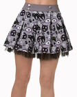 Banned Apparel Goth Rockabilly Gothic Nine Lives Mini Skirt Tulle Trim Black Cat