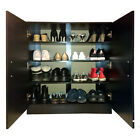 Shoe Cabinet Storage Sideboard Cupboard Rack Black White Beech Wooden Redstone