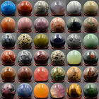 30mm 40mm Natural Gemstone Round Ball Crystal Healing Sphere Massage Rock Stones